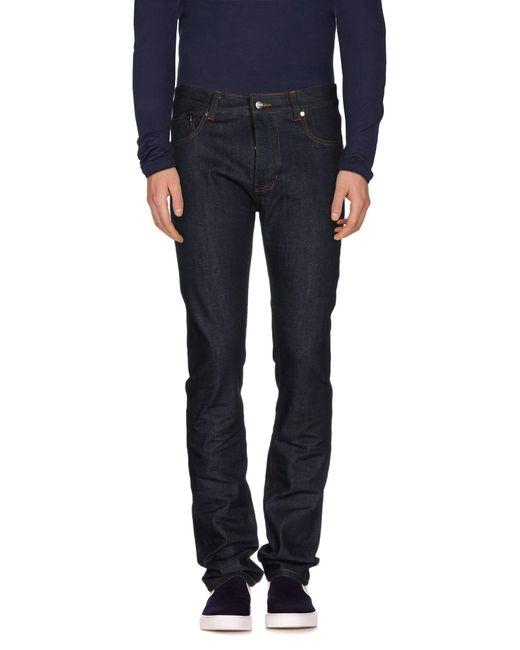 AMI - Blue Denim Pants for Men - Lyst