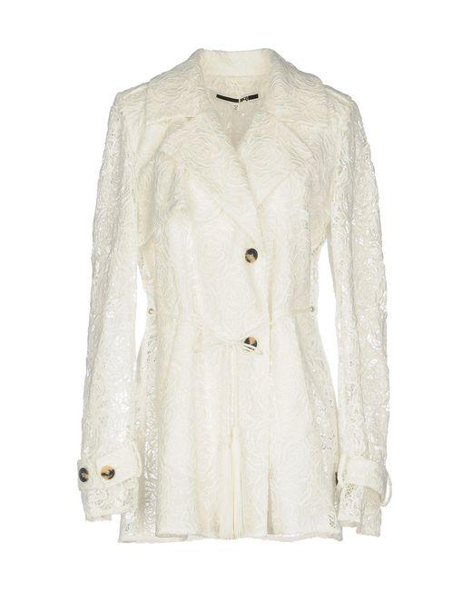 McQ Alexander McQueen - White Overcoat - Lyst