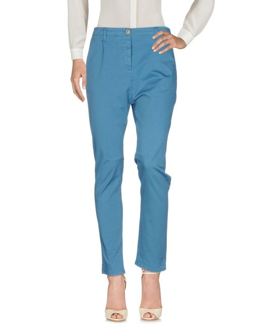 Novemb3r - Blue Casual Trouser - Lyst