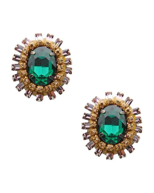 Deepa Gurnani | Green Earrings | Lyst