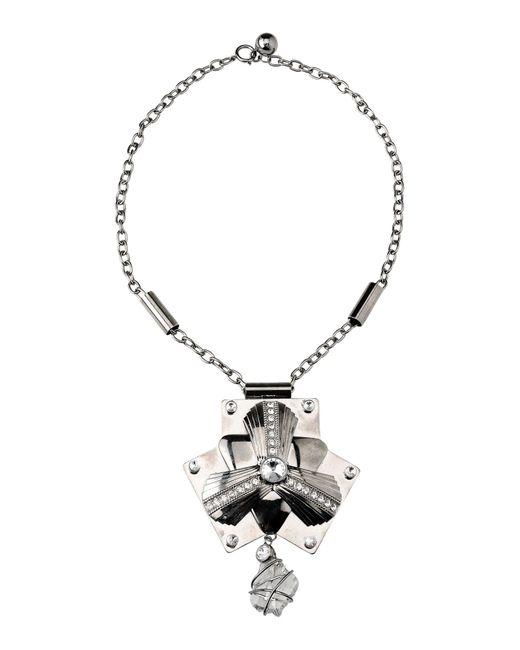 Pinko | Gray Necklace | Lyst
