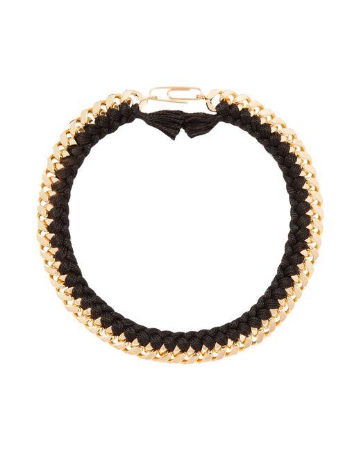 Aurelie Bidermann | Black Do Brasil Thread and Chain Necklace | Lyst