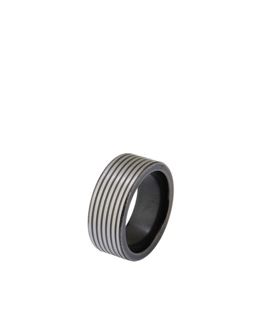 Emporio Armani | Gray Ring for Men | Lyst