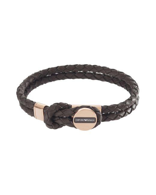 Emporio Armani   Brown Bracelet for Men   Lyst