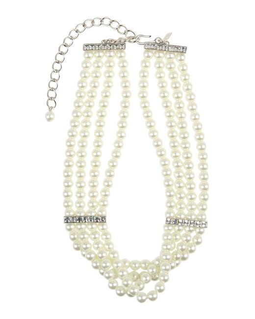 Kenneth Jay Lane | White Necklace | Lyst