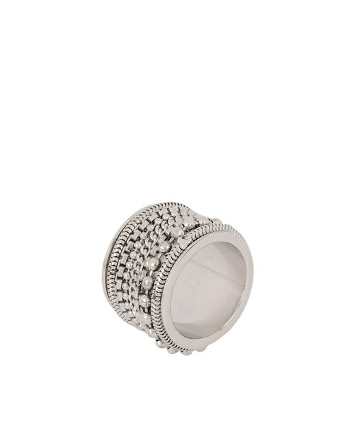 MM6 by Maison Martin Margiela | Metallic Ring | Lyst