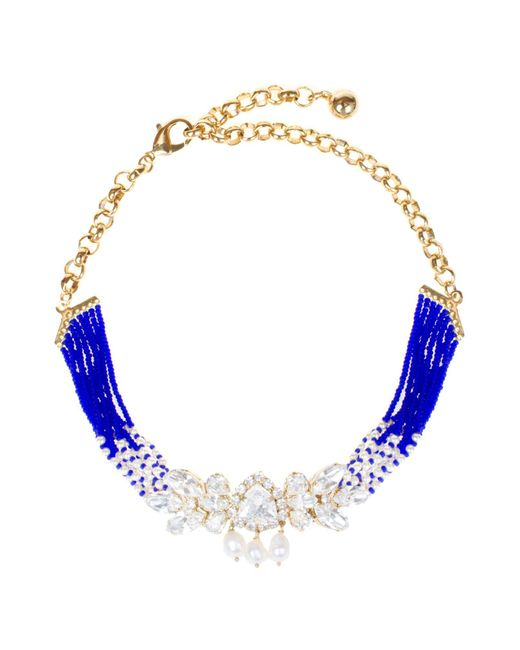 Shourouk | Blue Necklace | Lyst