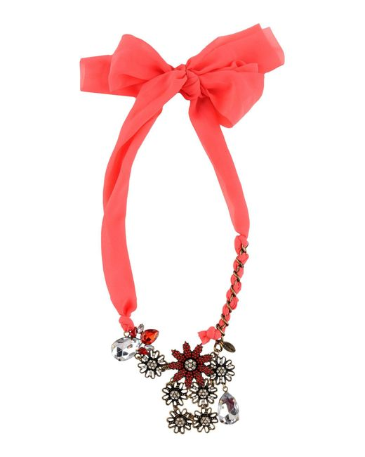 Twin Set | Red Necklace | Lyst