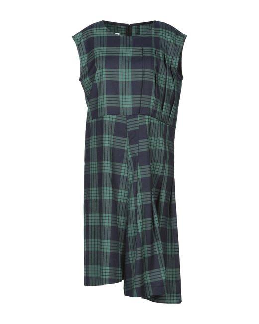 WEILI ZHENG Green Knee-length Dress