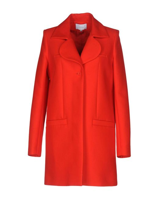 Carven - Red Coat - Lyst
