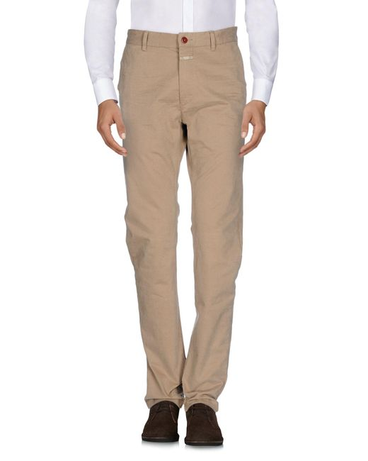 Closed - Natural Casual Pants for Men - Lyst