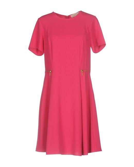 MICHAEL Michael Kors - Pink Short Dress - Lyst