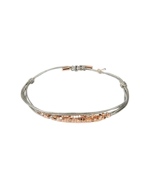 Fossil - Gray Bracelet - Lyst