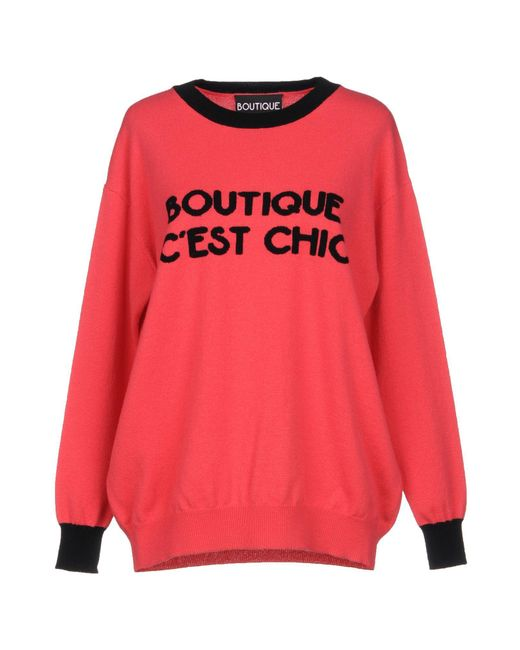 Boutique Moschino - Pink Sweaters - Lyst