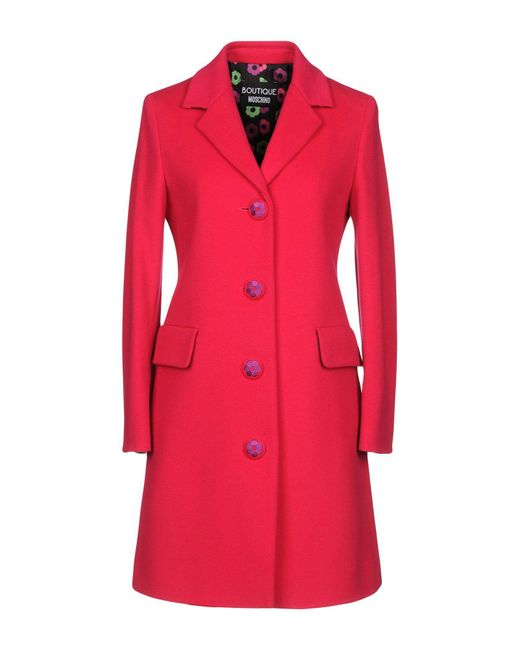 Boutique Moschino - Pink Coats - Lyst