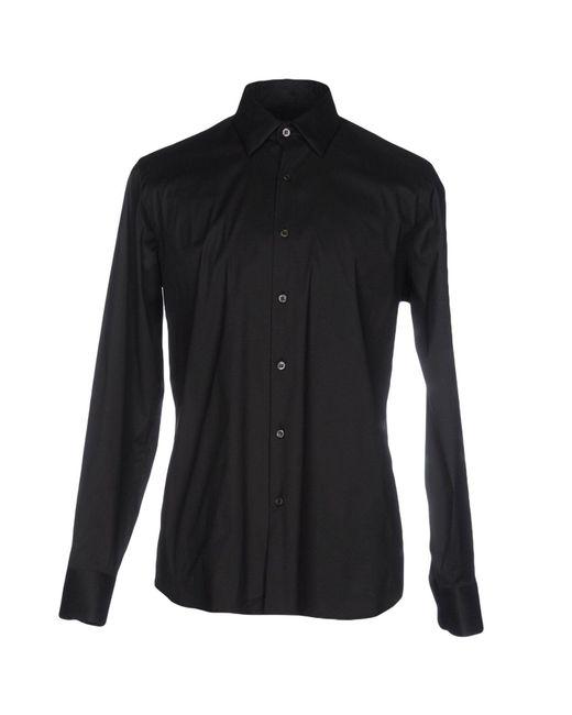 Prada - Black Shirt for Men - Lyst