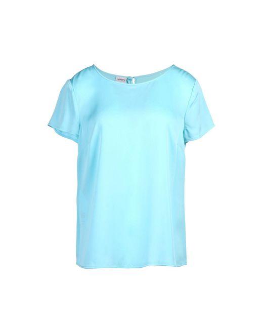 Armani - Blue Blouse - Lyst