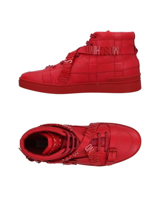 Moschino - Red High-tops & Sneakers for Men - Lyst
