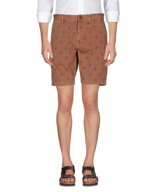 Volcom - Brown Bermuda Shorts for Men - Lyst