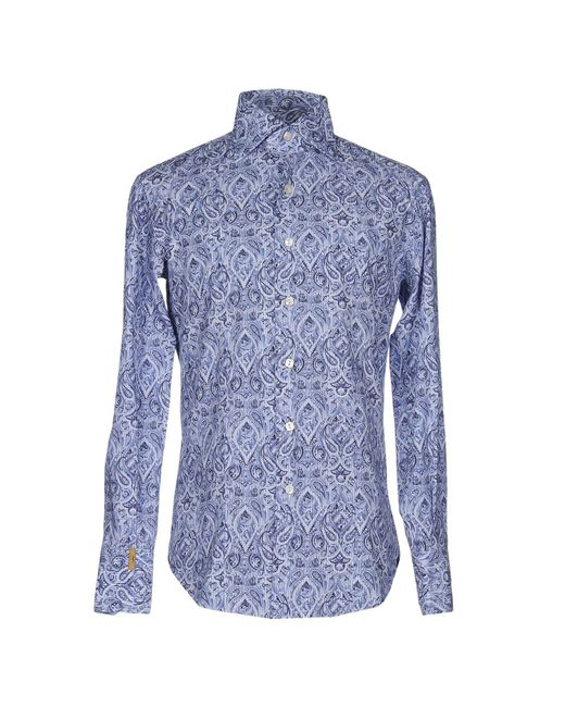 Billionaire   Blue Shirt for Men   Lyst