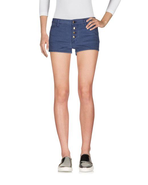 Met | Blue Denim Shorts | Lyst