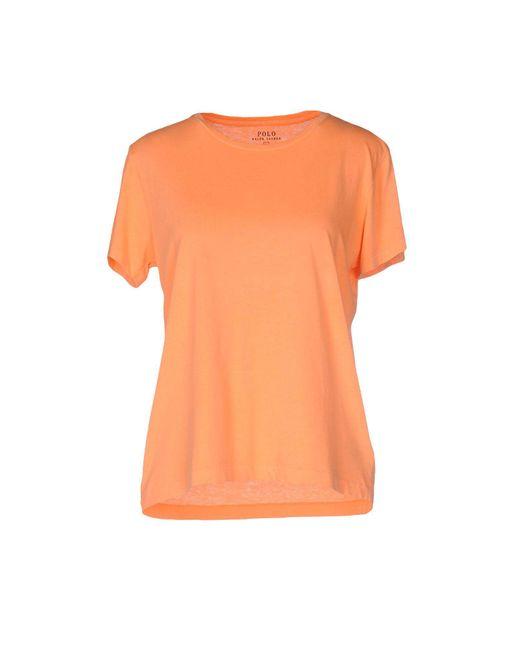Polo Ralph Lauren   Orange T-shirt   Lyst