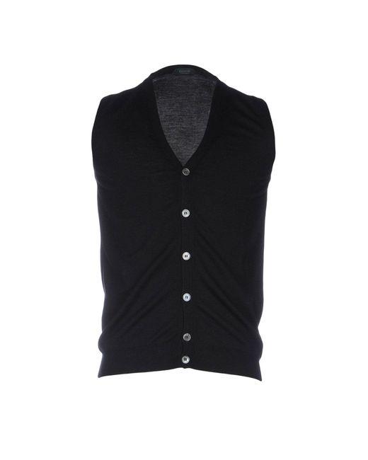Zanone - Black Cardigans for Men - Lyst
