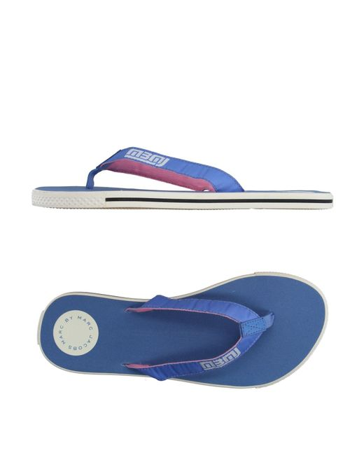 Marc By Marc Jacobs - Blue Toe Strap Sandal - Lyst