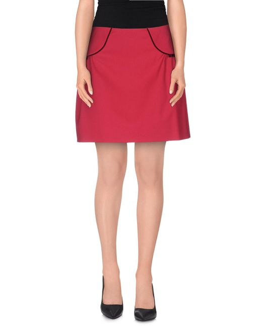 RED Valentino | Pink Mini Skirt | Lyst