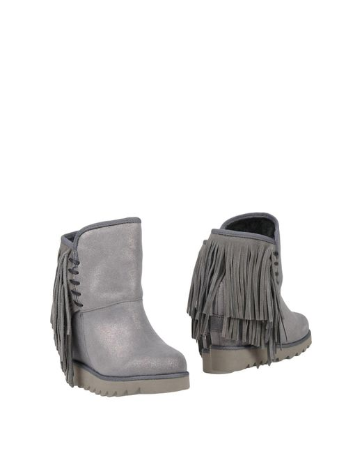 Colors Of California - Gray Ankle Boots - Lyst