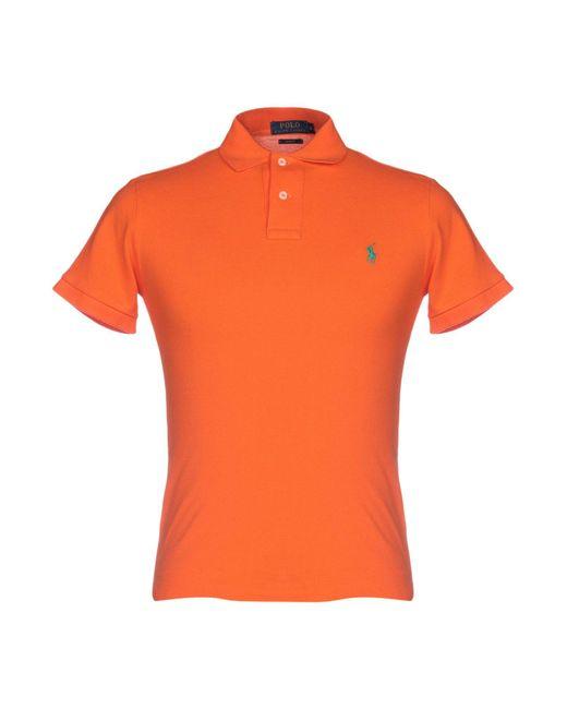 67b4f20b Polo Ralph Lauren - Orange Polo Shirt for Men - Lyst ...