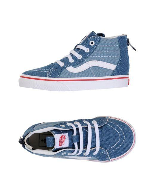1dc34b2494f818 Vans - Blue High-tops   Sneakers for Men - Lyst ...