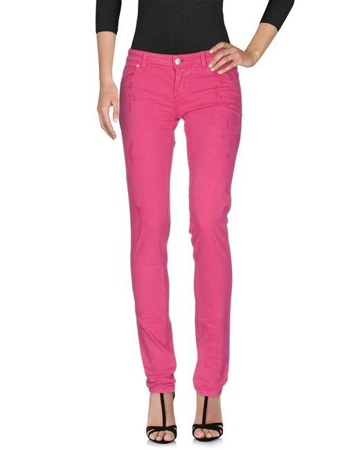 79c9f3549f9 Lyst - Pantalones vaqueros Ermanno Scervino de color Rosa