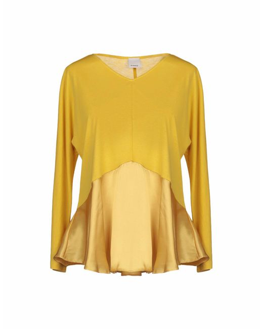 Lyst Yellow Pinko Yellow Pinko Shirt T qwXdpdE