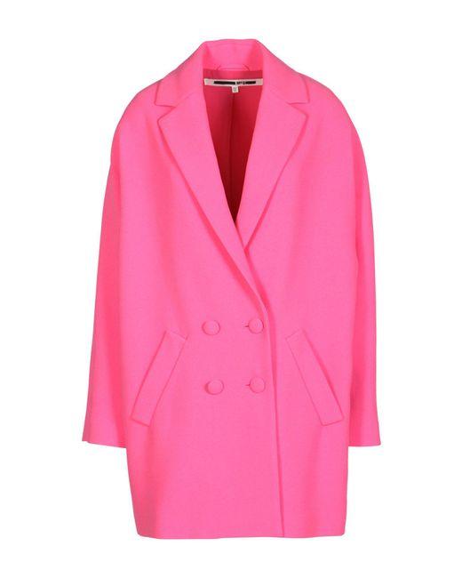 McQ Alexander McQueen - Pink Overcoat - Lyst