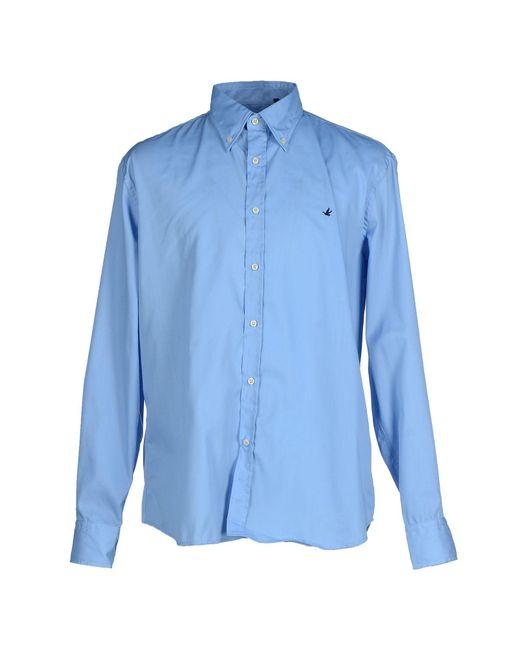 Brooksfield | Blue Shirt for Men | Lyst