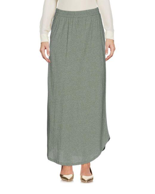 Ichi - Green 3/4 Length Skirts - Lyst