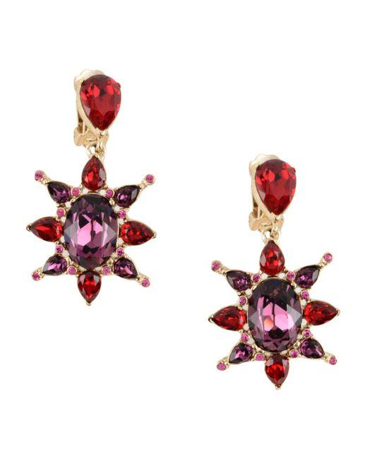 Oscar de la Renta - Purple Earrings - Lyst