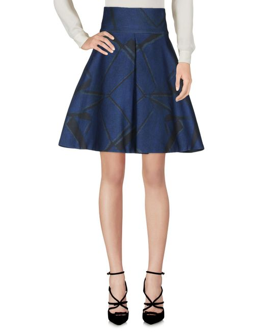Kor@kor - Blue Knee Length Skirt - Lyst