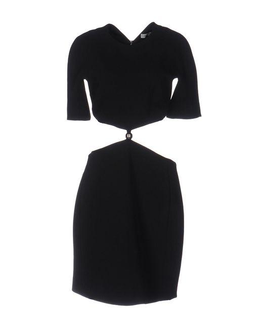 Mugler - Black Cut-out Jersey Dress - Lyst