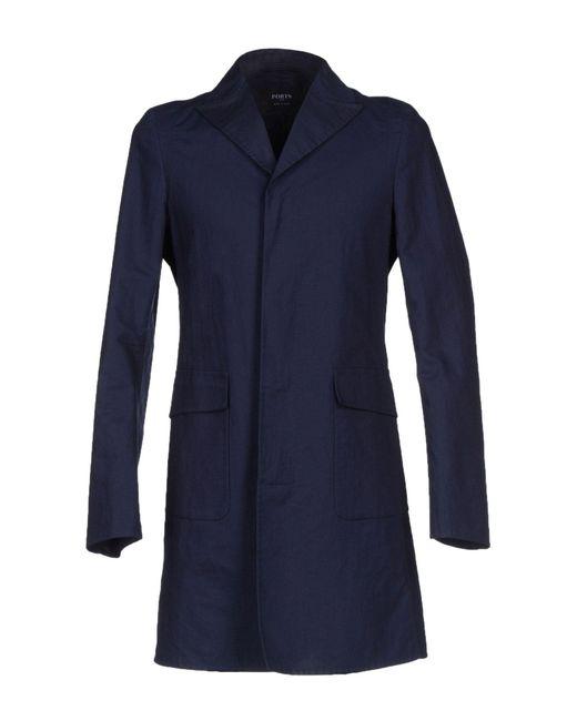 Ports 1961 - Blue Overcoat for Men - Lyst