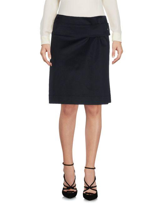 Paul Smith - Blue Knee Length Skirt - Lyst