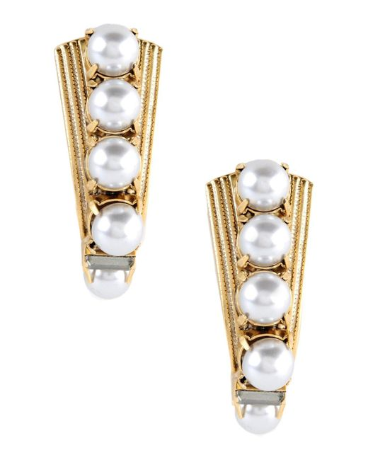 Elizabeth Cole - Metallic Earrings - Lyst