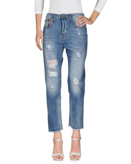 TRUE NYC - Blue Denim Pants - Lyst