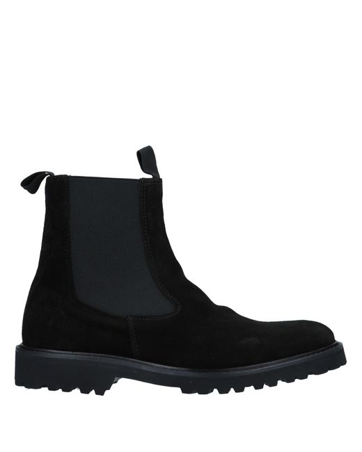 Eleventy - Black Ankle Boots - Lyst