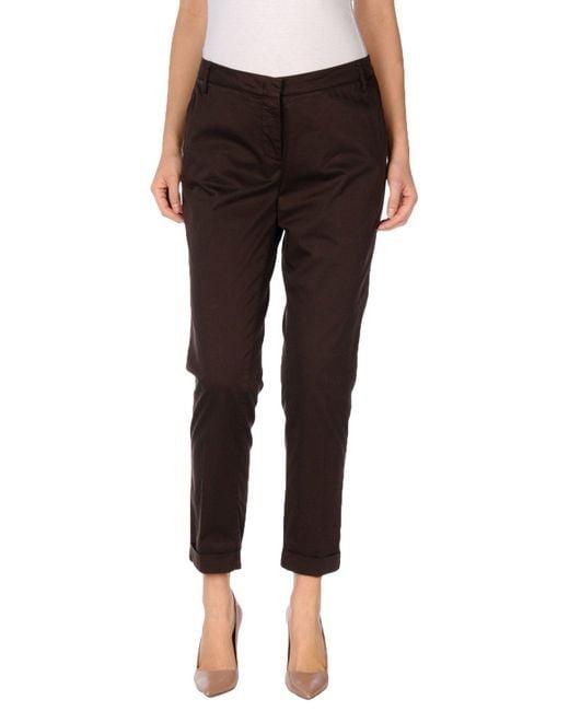 Manila Grace | Brown Casual Trouser | Lyst