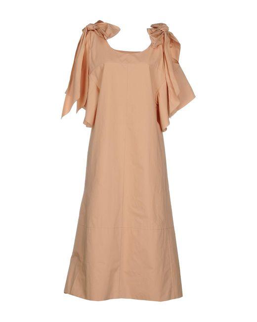 Chloé - Pink 3/4 Length Dress - Lyst
