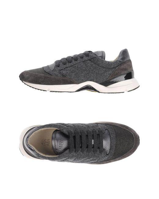 Brunello Cucinelli - Gray Low-tops & Sneakers - Lyst