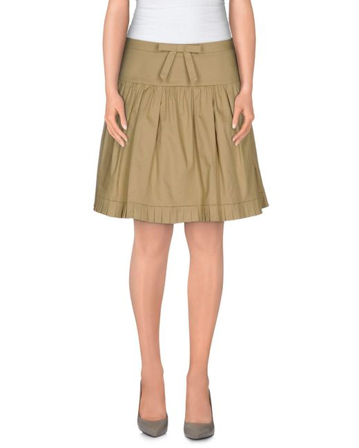 RED Valentino - Natural Mini Skirt - Lyst