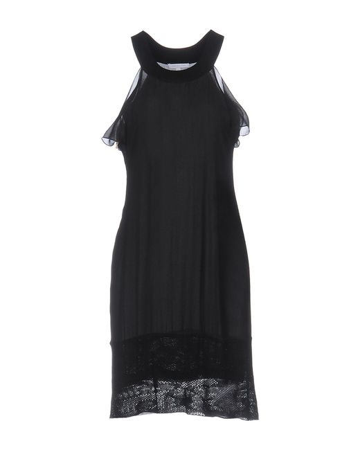 Patrizia Pepe - Black Short Dress - Lyst